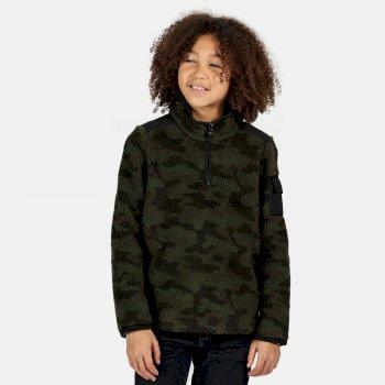 Macklin robustes Fleece mit halblangem Reißverschluss für Kinder Grün