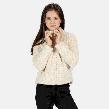 Kessie kuscheliges Fleece mit halblangem Reißverschluss für Kinder Sahne
