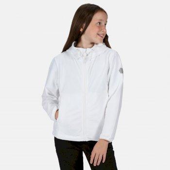 Tapley geripptes Velours-Walkingfleece mit Kapuze und durchgehendem Reißverschluss für Kinder Weiß