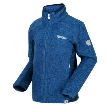 Highton Winter meliertes Fleece mit durchgehendem Reißverschluss für Kinder Blau