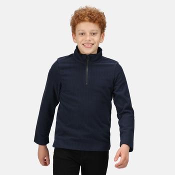 Cabe zweifarbiges Fleece mit halblangem Reißverschluss für Kinder Blau