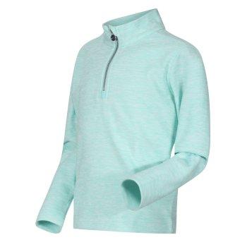 Shay leichter, melierter Fleece mit halblangem Reißverschluss für Kinder Blau