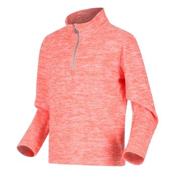 Shay leichter, melierter Fleece mit halblangem Reißverschluss für Kinder Orange