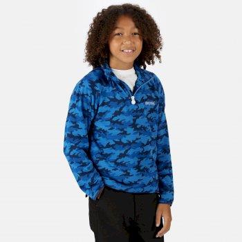 Regatta Kids' Highton Lightweight Half Zip Fleece - Nautical Blue Camo