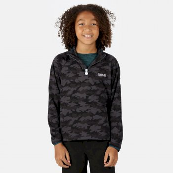 Regatta Kids' Highton Lightweight Half Zip Fleece - Seal Grey Camo