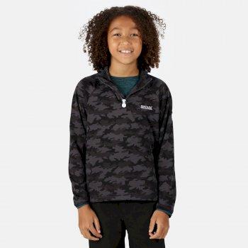 Regatta Kids' Highton Lightweight Half Zip Fleece - Seal Grey Camo