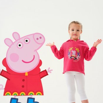 Regatta Peppa Pig Overhead Hoody - Bright Blush