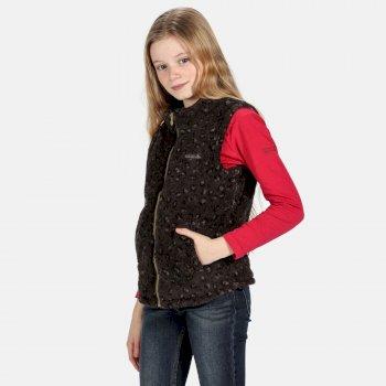 Radinka kuschelige Fleeceweste für Kinder Schwarz