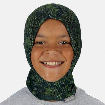 Bedruckter Masken-Tunnelschal für Kinder Grün