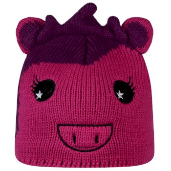Regatta Kids Animally II Hat - Unicorn Extreme Pink Winberry