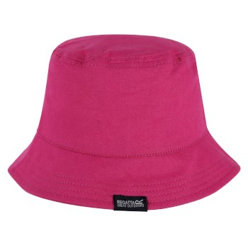Regatta Kids' Crow Coolweave Cotton Canvas Hat - Cabaret
