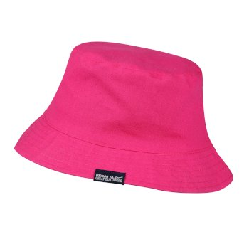 Regatta Kids' Crow Coolweave Cotton Canvas Hat - Duchess Pink