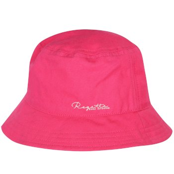 Regatta Kids Crow Cool Weave Cotton Canvas Hat Hot Pink