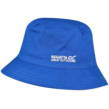 Regatta Kids' Crow Coolweave Cotton Canvas Hat - Skydiver Blue