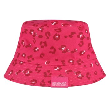 Regatta Kids' Crow Coolweave Cotton Canvas Hat - Duchess Animal Print