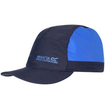 Regatta Kids Protect Sunshade Neck Protector Cap Navy Skydiver Blue