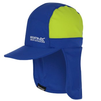 Protect Sunshade Kappe mit Nackenschutz für Kinder Blau