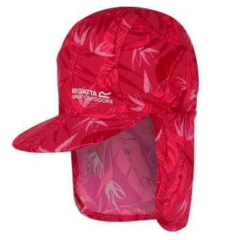 Regatta Kids' Protect Sunshade Neck Protector Cap - Duchess Pink