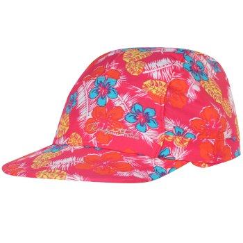 Regatta Kids Protect Sunshade Neck Protector Cap Hot Pink
