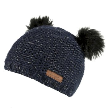 Regatta Hedy Lux Acrylic Knit Hat Navy Metallic