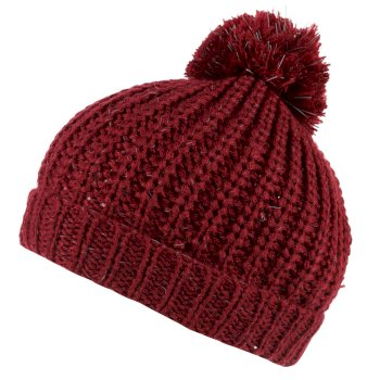 Regatta Luminosity II Reflective Knit Bobble Hat - Delhi Red