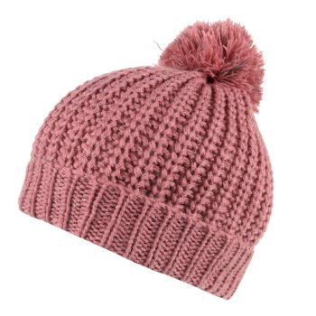 Regatta Luminosity II Reflective Knit Bobble Hat - Dusty Rose