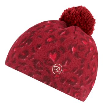 Regatta Kids' Fallon Printed Fleece Hat - Rumba Animal