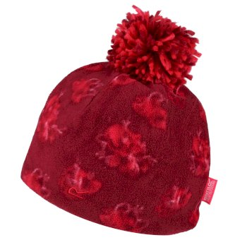 Regatta Kids' Fallon Printed Fleece Hat - Beetroot Floral