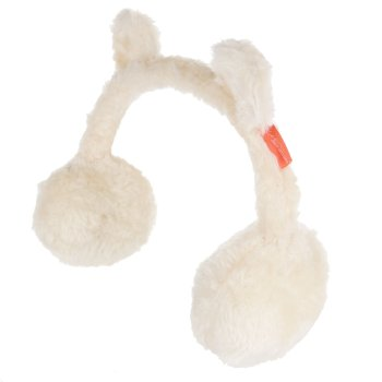 Regatta Kids' Ezora Fluffy Fleece Ear Muffs - Light Vanilla