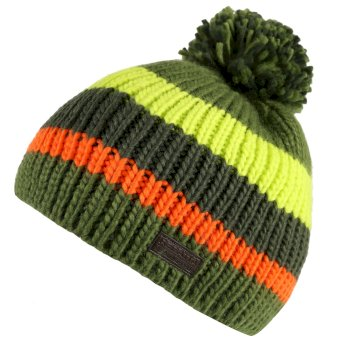 Regatta Davin Acrylic Knit Pom Pom Hat Cypress Green