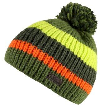 Kids' Davin Acrylic Knit Pom Pom Hat - Cypress Green