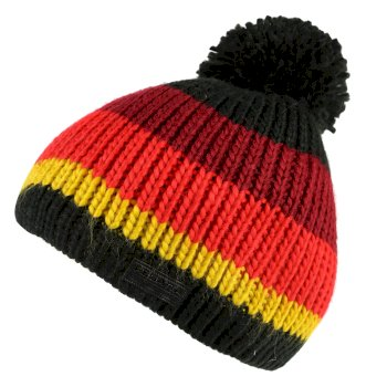 Regatta Davin Acrylic Knit Pom Pom Hat Black Multi