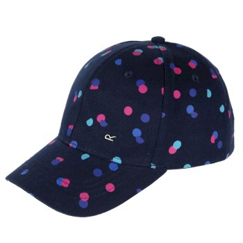 Regatta Kids' Cuyler Baseball Cap II Navy Polka Dot