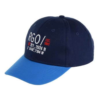 Regatta Kids' Cuyler Baseball Cap II Navy Oxford Blue