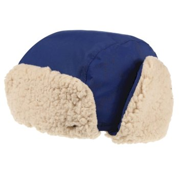 Regatta Kids' Tavis II Fur Lined Reflective Trapper Hat - Prussian Blue