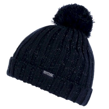 Regatta Kids' Luminosity III Reflective Bobble Hat - Navy