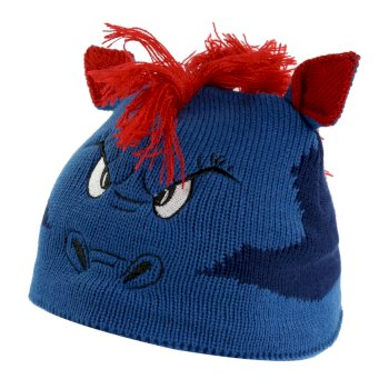 Regatta Kids' Animally III Knitted Beanie Hat - Prussian Blue Dragon