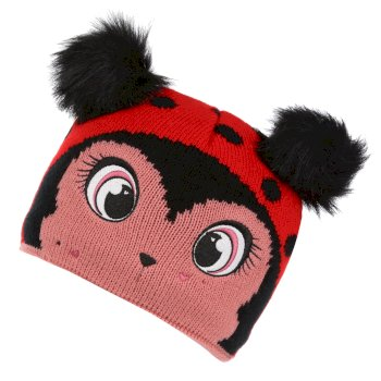 Regatta Kids' Animally III Knitted Beanie Hat - Lollipop Ladybird