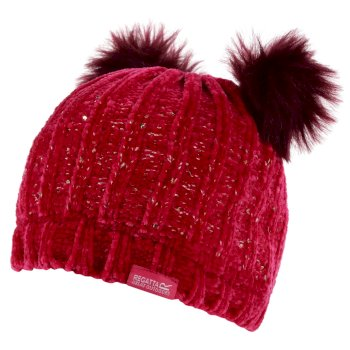 Regatta Kids' Hedy Lux II Sequined Bobble Hat - Duchess Pink