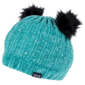 Regatta Kids' Hedy Lux II Sequined Bobble Hat - Ceramic Blue