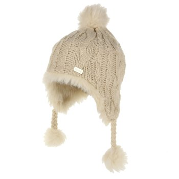 Regatta Kids' Cassiana Fur Lined Chullo Hat - Light Vanilla