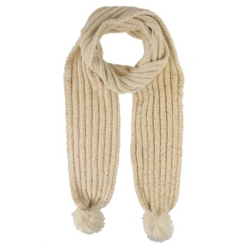 Regatta Kids' Hedy Lux Pom Pom Scarf - Light Vanilla