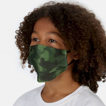 Regatta Kids' Face Covering 3 Pack - Racing Green Camo