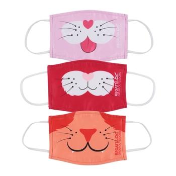 Regatta Kids' Face Covering 3 Pack - Coral Blush Duchess Pink