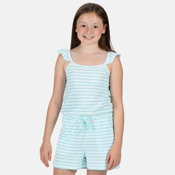 Dorsey Strampelanzug mit Rüschenstreifen für Kinder Blau