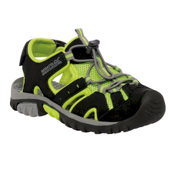 Regatta Kids' Deckside Sandal Black Lime