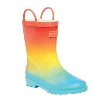 Kids' Minnow Ombre Print Wellingtons Aqua