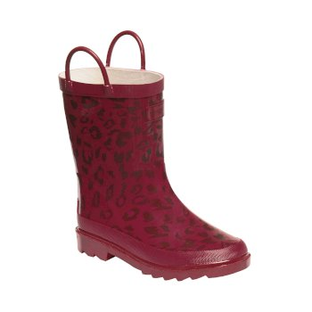 Regatta Kids Minnow Wellies Persian Red Rhumba Red