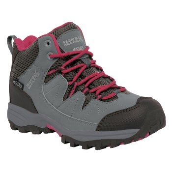 Regatta Kids Holcombe Mid Walking Boots - Steel Vivacious