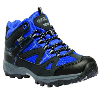 Regatta Kids Gatlin Mid Walking Boots - SkyDiver Blue Ash